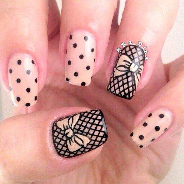 55 Best Polka Dots Nail Art Design Ideas For Trendy Girls