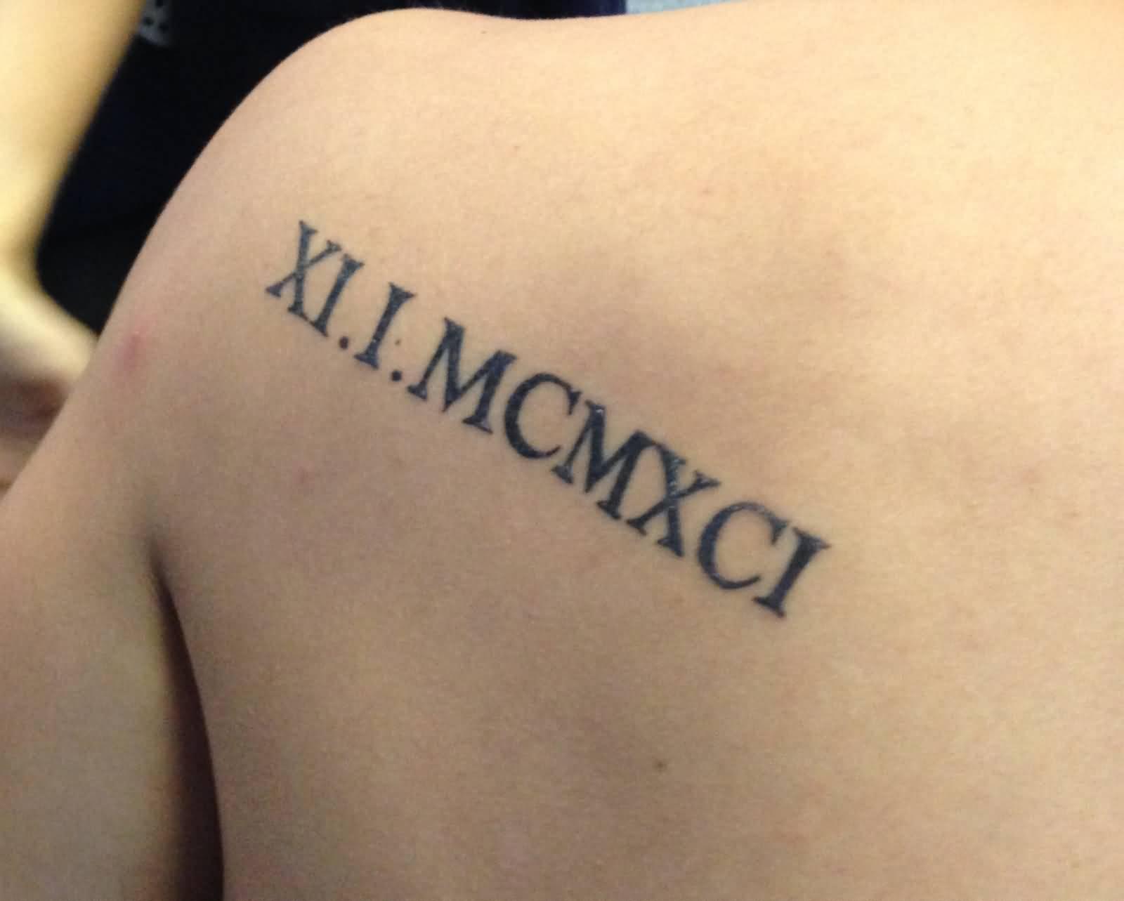 25 Roman Numerals Tattoo On Back