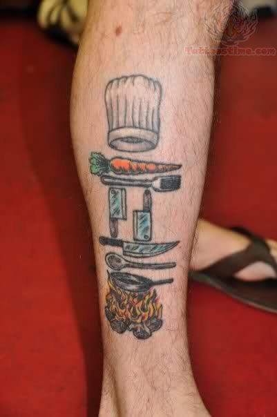 Custom chef tattoo design   MorbidTattoo.com  Chef Hat Tattoos