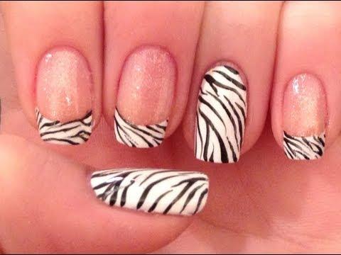 - Classic Zebra Print Nail Art