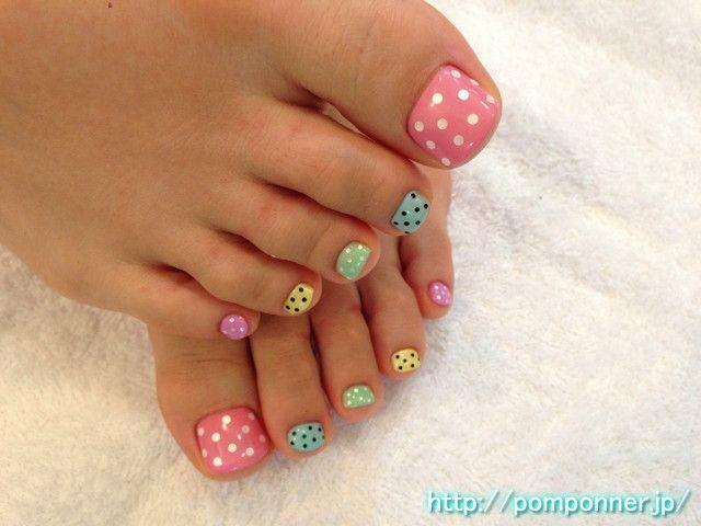 45 best polka dots toe nail art design ideas colorful polka dots toe nail art prinsesfo Image collections