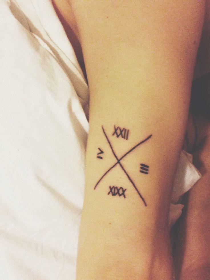 21 wonderful roman numerals tattoo designs. Black Bedroom Furniture Sets. Home Design Ideas
