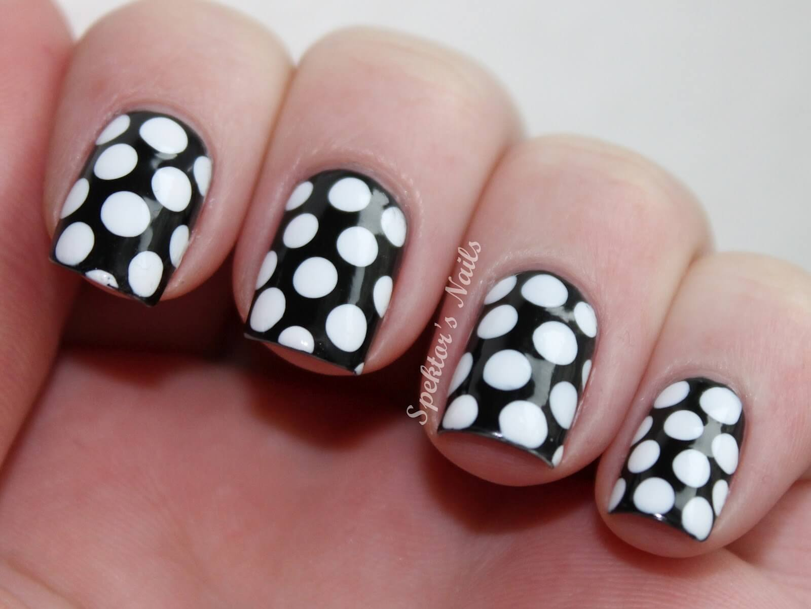 40 Black And White Polka Dot Nail Art Designs For Trendy Girls