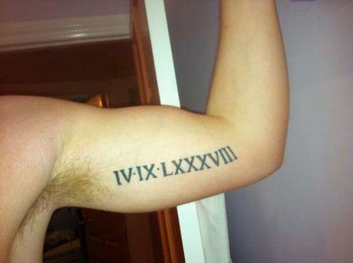 12 biceps roman numerals tattoos. Black Bedroom Furniture Sets. Home Design Ideas