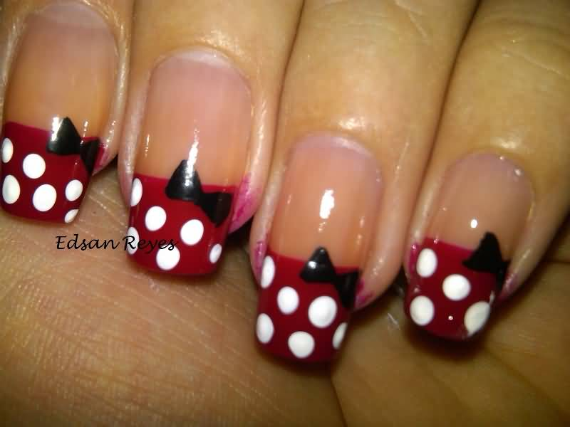 65 Most Beautiful Polka Dots Nail Art Designs