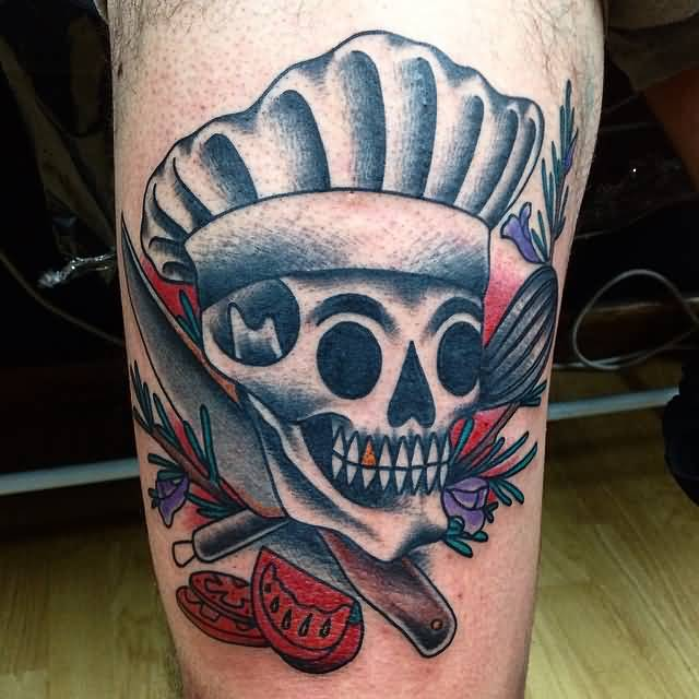 21 Catchy Black Ink Tattoos Designs By Hugo: 21+ Awesome Chef Knife Tattoos