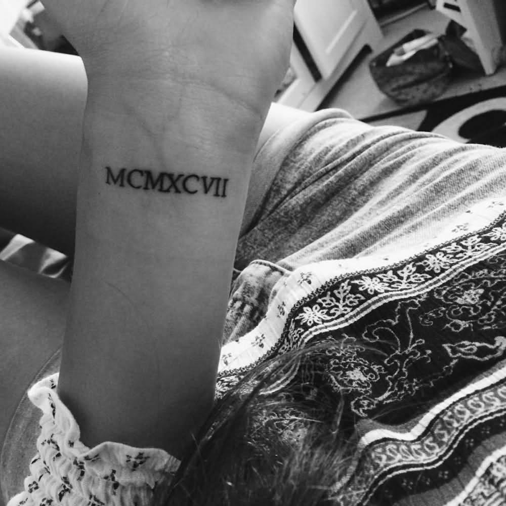 51 roman numerals wrist tattoos for 1997 tattoo designs