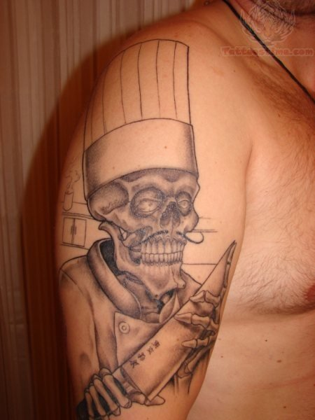 11 half sleeve chef tattoos. Black Bedroom Furniture Sets. Home Design Ideas