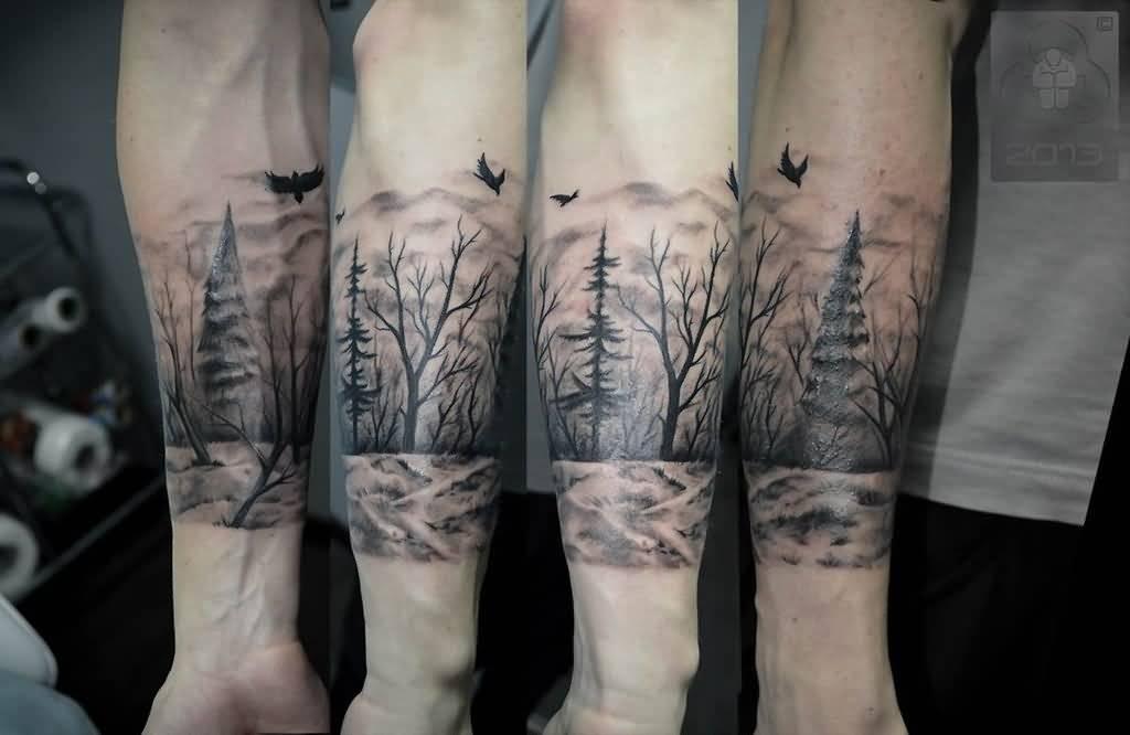 wonderful forest tattoos