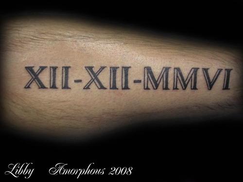 Nice Roman Numerals Tattoo