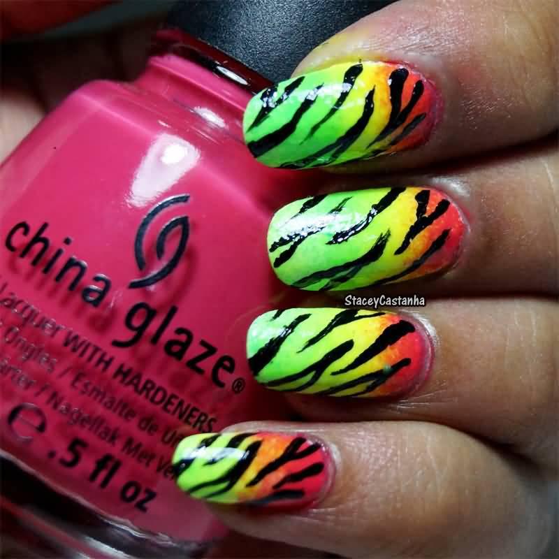 45 Latest Zebra Print Nail Art Design Ideas For Girls