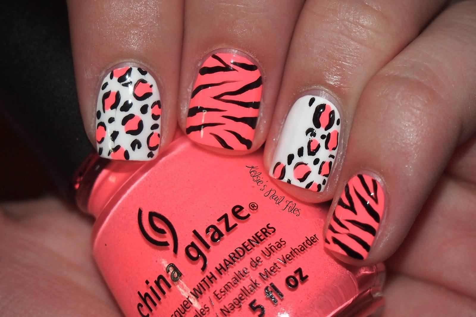 Pink zebra nails nails pinterest - Latest Zebra Print Nail Art Design Ideas For Girls Pink Zebra Nail Art