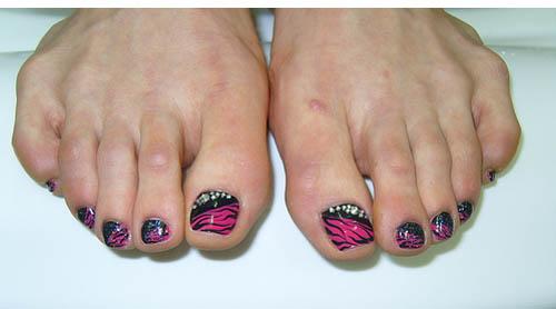 Zebra print toe nail designs best toe glitter nail art design zebra print toe nail designs most beautiful zebra print nail art designs for toe prinsesfo Gallery