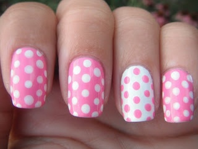 Nail designs pink and white images nail art and nail design ideas 35 beautiful pink polka dots nail art designs pink and white simple polka dots nail art prinsesfo Image collections