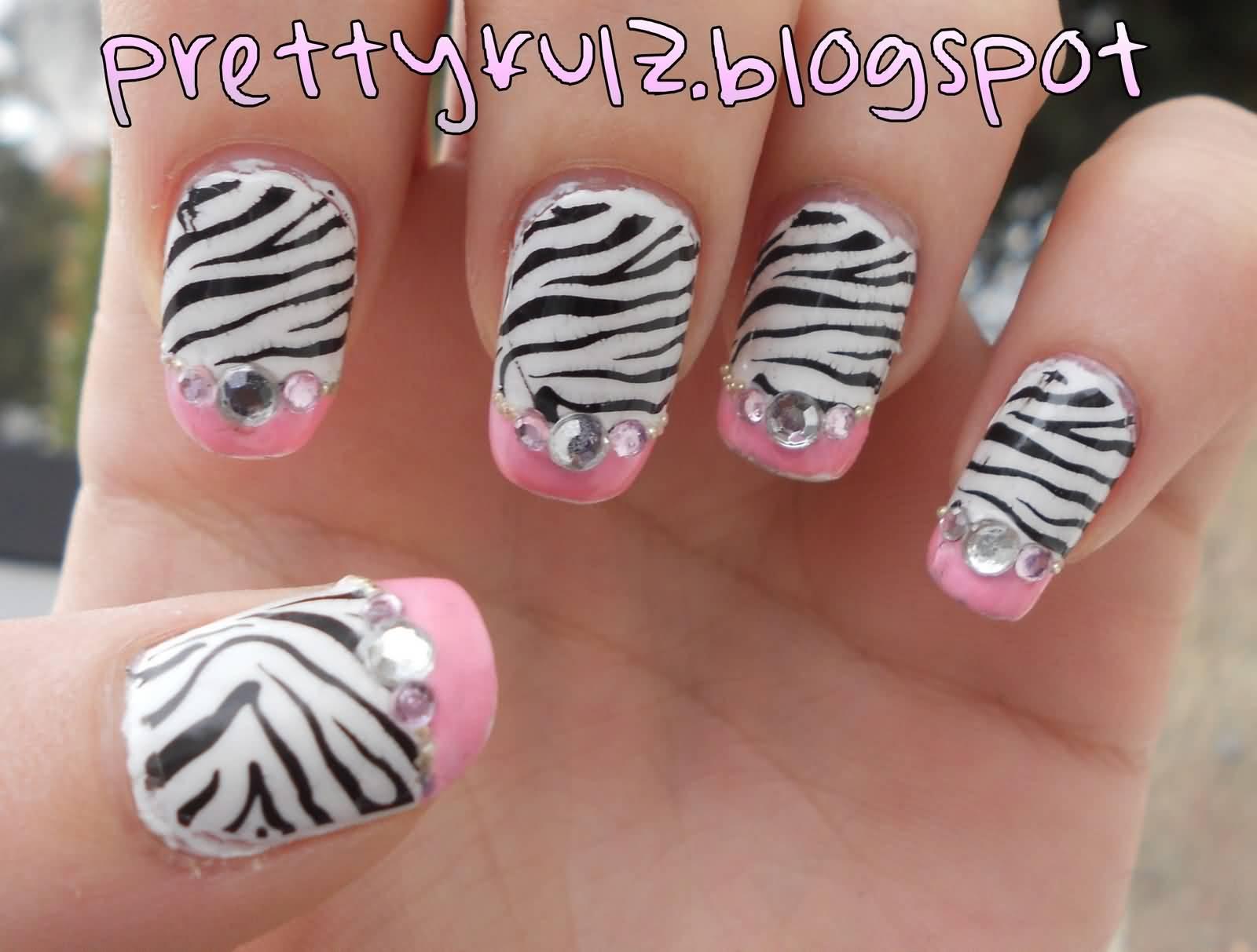 how to make zebra print nails