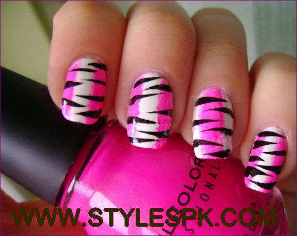 55 Most Beautiful Zebra Print Nail Art Design Ideas