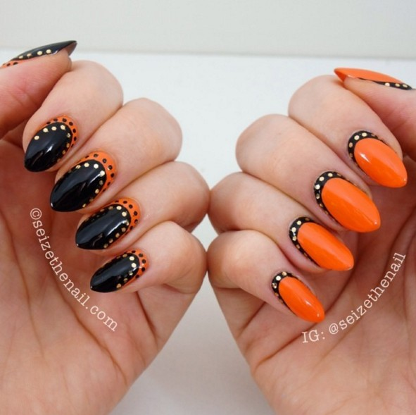 Polka Dots Nail Art Designs