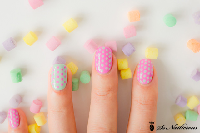 Pretty Polka Dots Nail Art Design