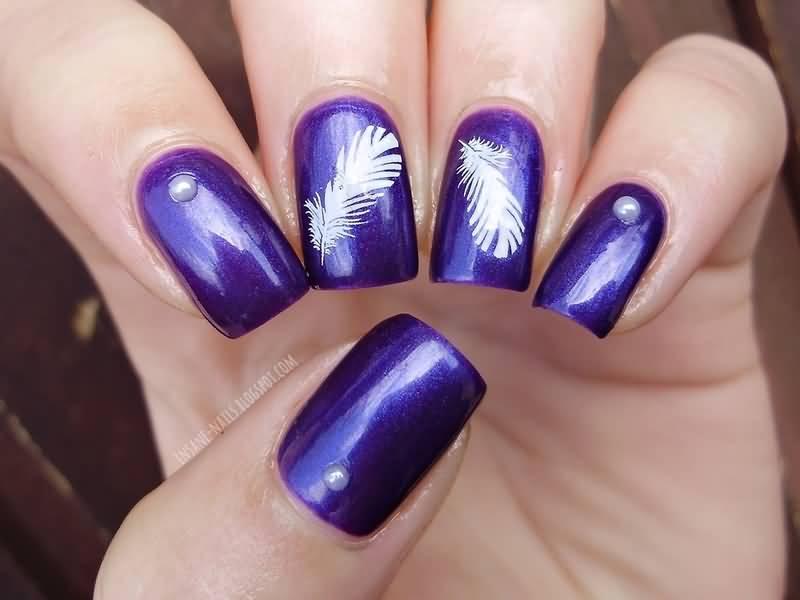 55 Most Stylish Feather Nail Art Designs