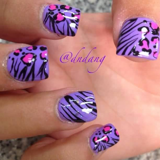 Nails designs zebra print