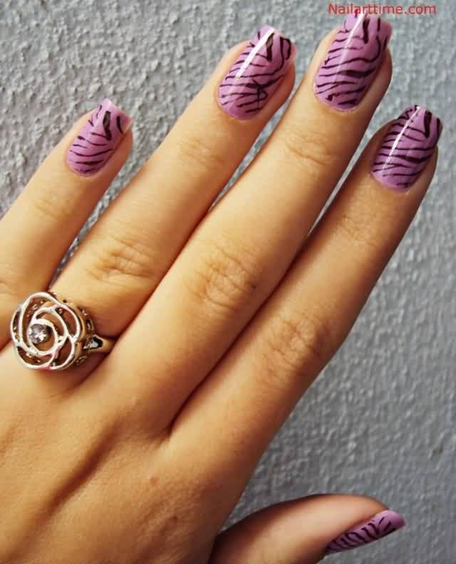 Nail Art Zebra Stripes: 45+ Latest Zebra Print Nail Art Design Ideas For Girls