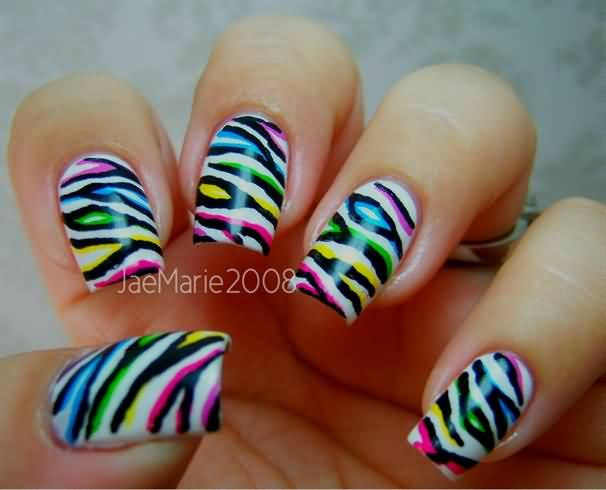 Zebra Nail Art Designs Step By Ideas Images