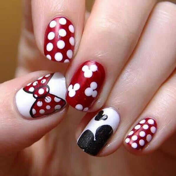 Red And White Polka Dots Bow Design