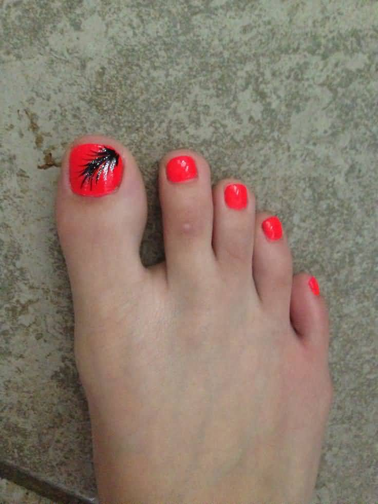 16 Best Feather Nail Art For Toe Nails Designs