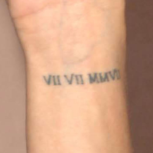 51 roman numerals wrist tattoos for Roman numerals tattoo on finger