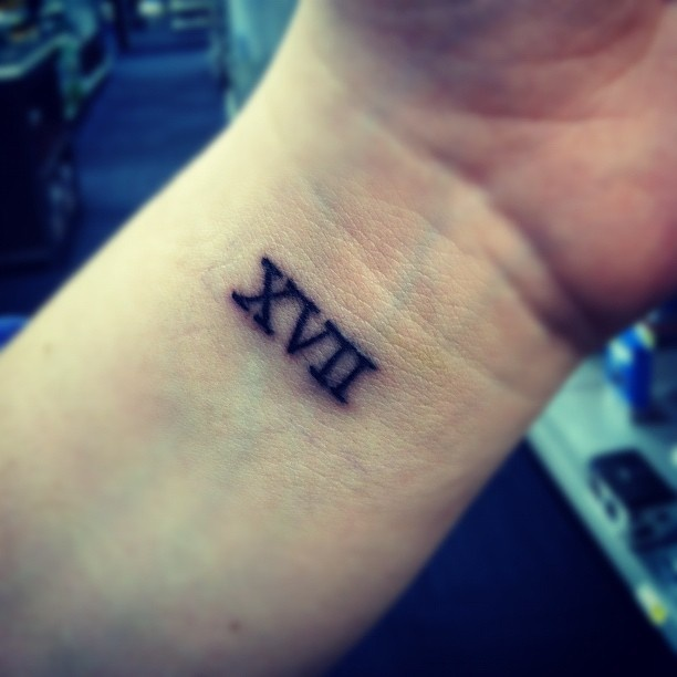 51 roman numerals wrist tattoos. Black Bedroom Furniture Sets. Home Design Ideas