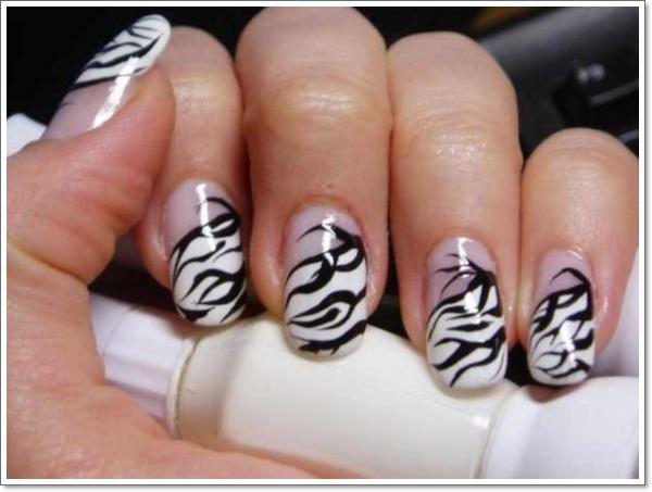 Stylish Zebra Print Nail Art