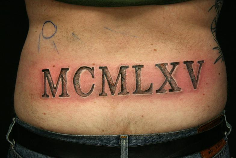 21 wonderful roman numerals tattoo designs. Black Bedroom Furniture Sets. Home Design Ideas