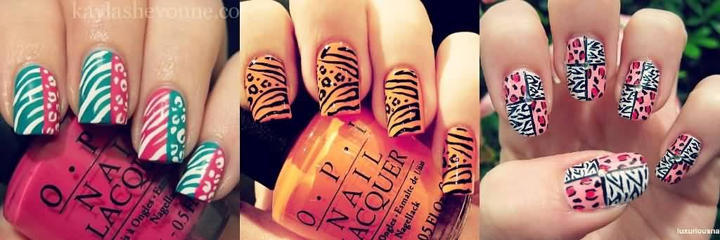 Three Beautiful Zebra Print Nail Art Designs