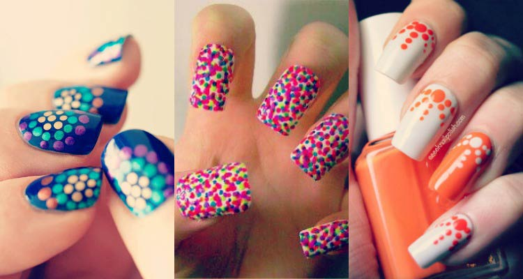 - Three Incredible Polka Dots Nail Art Designs