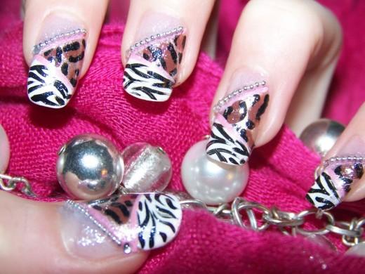 Tremendous Zebra Print And Leopard Print Nail Art