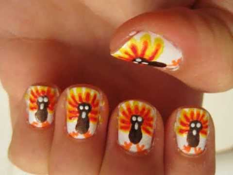 Turkey Nail Art Thanksgiving Day My Own Email