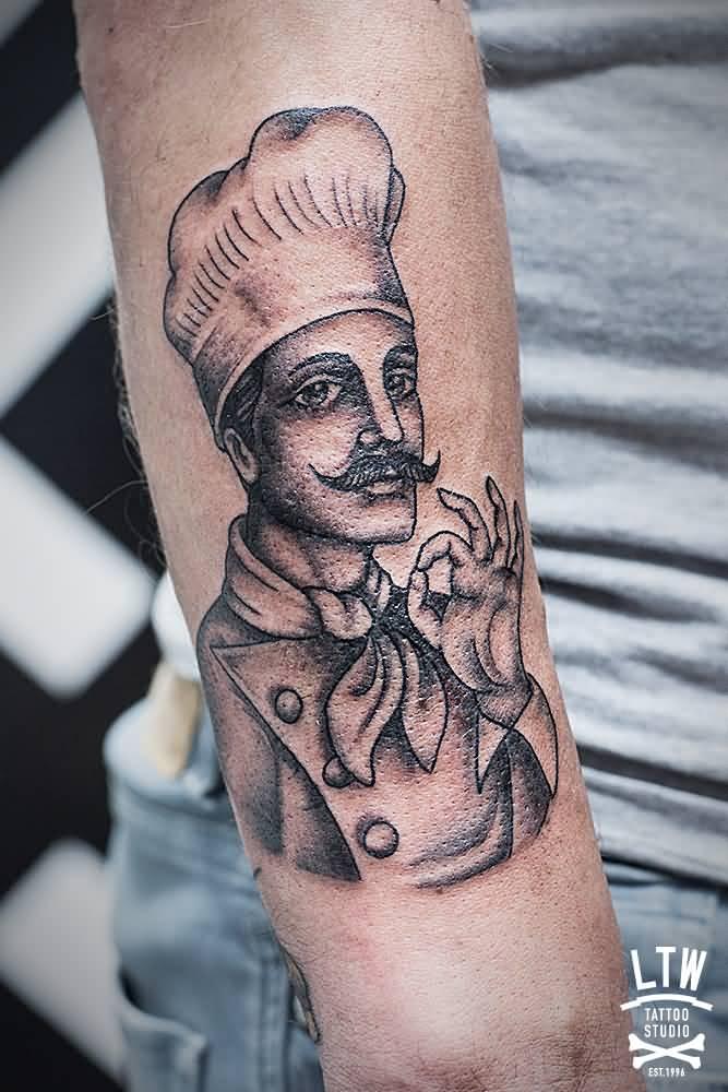 chef tattoo forearm tattoos nice very