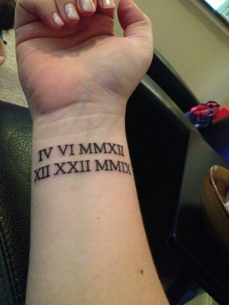 30 Cool Roman Numerals Wrist Tattoos