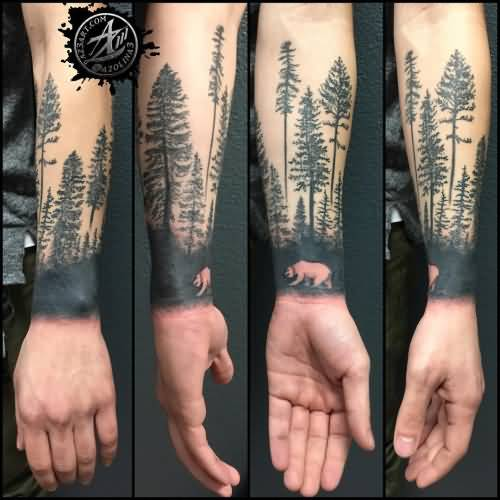 43 wonderful forest tattoos. Black Bedroom Furniture Sets. Home Design Ideas