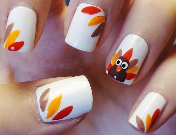 50 Most Beautiful Thanksgiving Nail Art Design Ideas