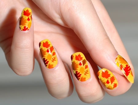 50 Most Beautiful Thanksgiving Nail Art Design Ideas