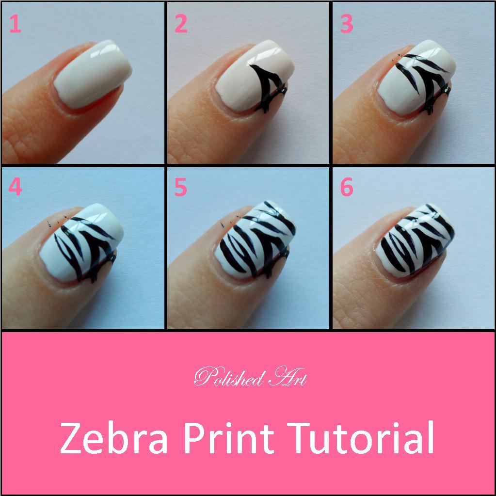 Zebra Print Nail Tutorial Picture