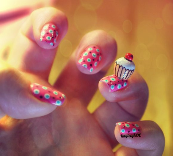 51 Wonderful Cupcake Nail Art Design Ideas For Girls