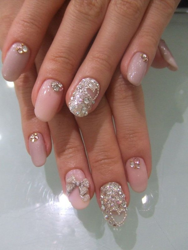 81 Beautiful Nail Art Designs For Brides 52 Beautiful Nail Art