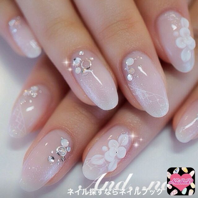 Nail Designs With Rhinestones And Flowers: Passionsviolet nails with ...
