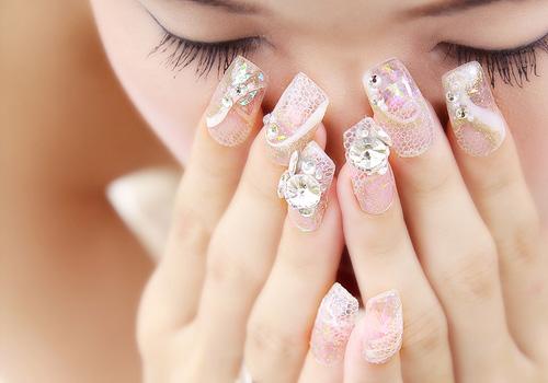 3d wedding nail art design