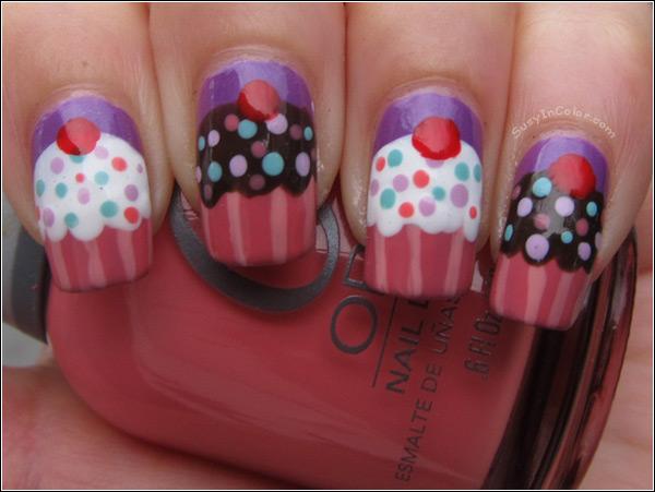 Acrylic cupcake nail art designs prinsesfo Gallery