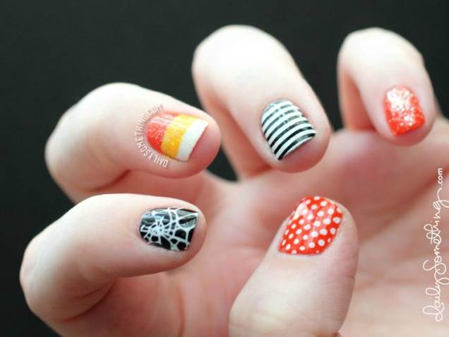 55 latest halloween nail art designs adorable halloween nail design idea prinsesfo Choice Image