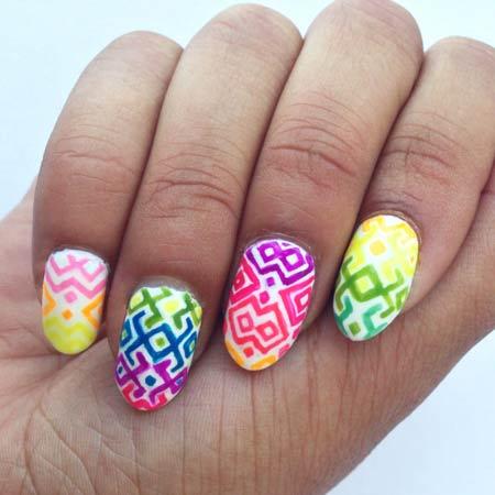 50 Latest Neon Nail Art Design Ideas