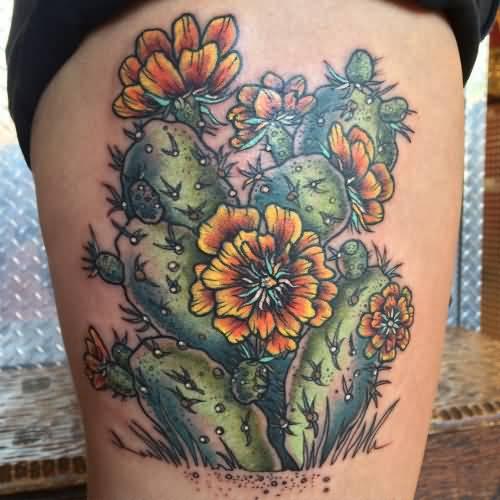 20 Prickly Pear Cactus Tattoos